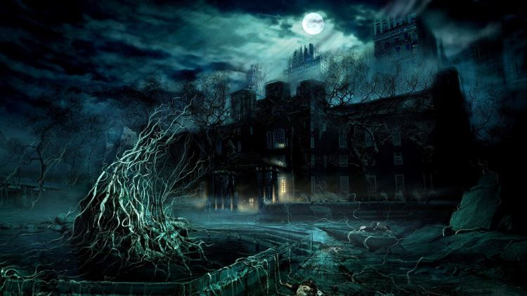 Scary-Dark-Castle-Background